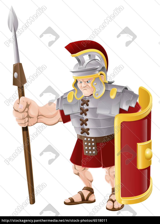 starke roman soldier illustration.