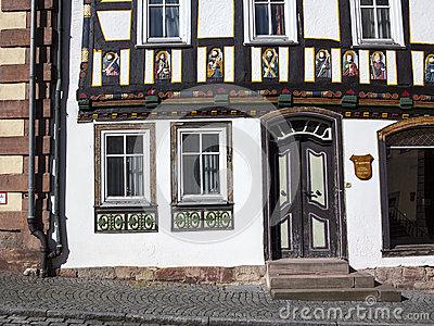 Marketplace In The Fairy Tale Town Steinau An Der Straße, Germany.