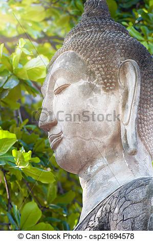 Bilder von stein, Buddha, statue.