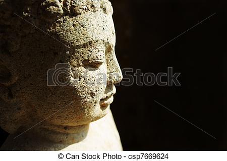 Stock Foto von stein, Buddha.