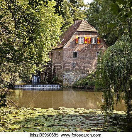 "Stock Image of ""Water mill of Haus Steinfurt, Drensteinfurt."