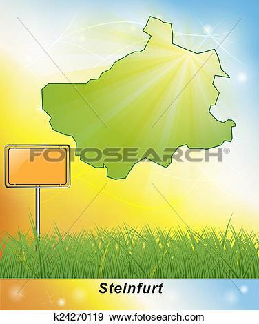 Stock Illustration of Map of Steinfurt k24270119.