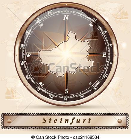 Vektoren von Landkarte, steinfurt.