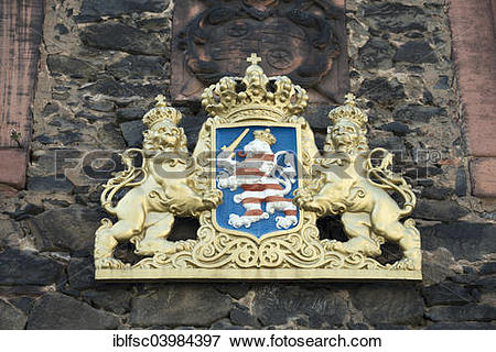 """Picture of """"Coat of arms with lions on the facade of Altes."""