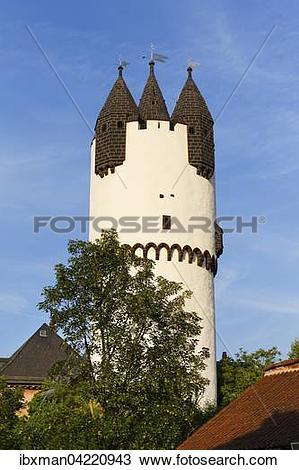 Stock Photo of Tower, keep of the Steinheimer Castle, Steinheim am.