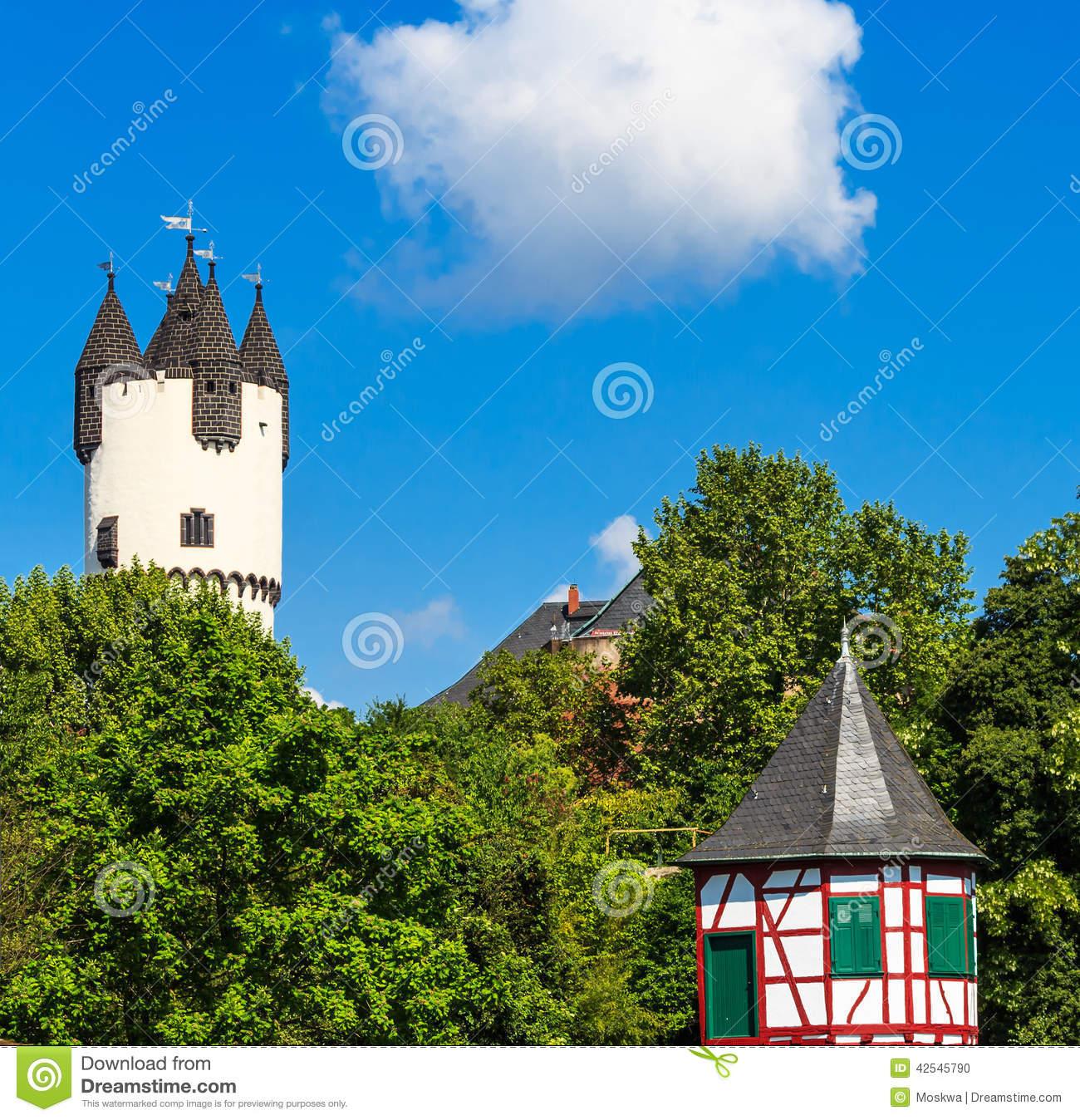 Donjon Tower In Castle Park Of Hanau.