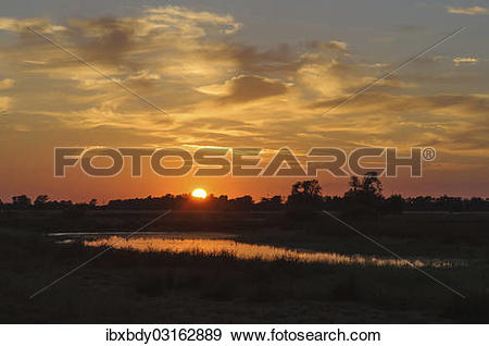 "Stock Photograph of ""Sunrise at the Meerbruchswiesen at Steinhuder."