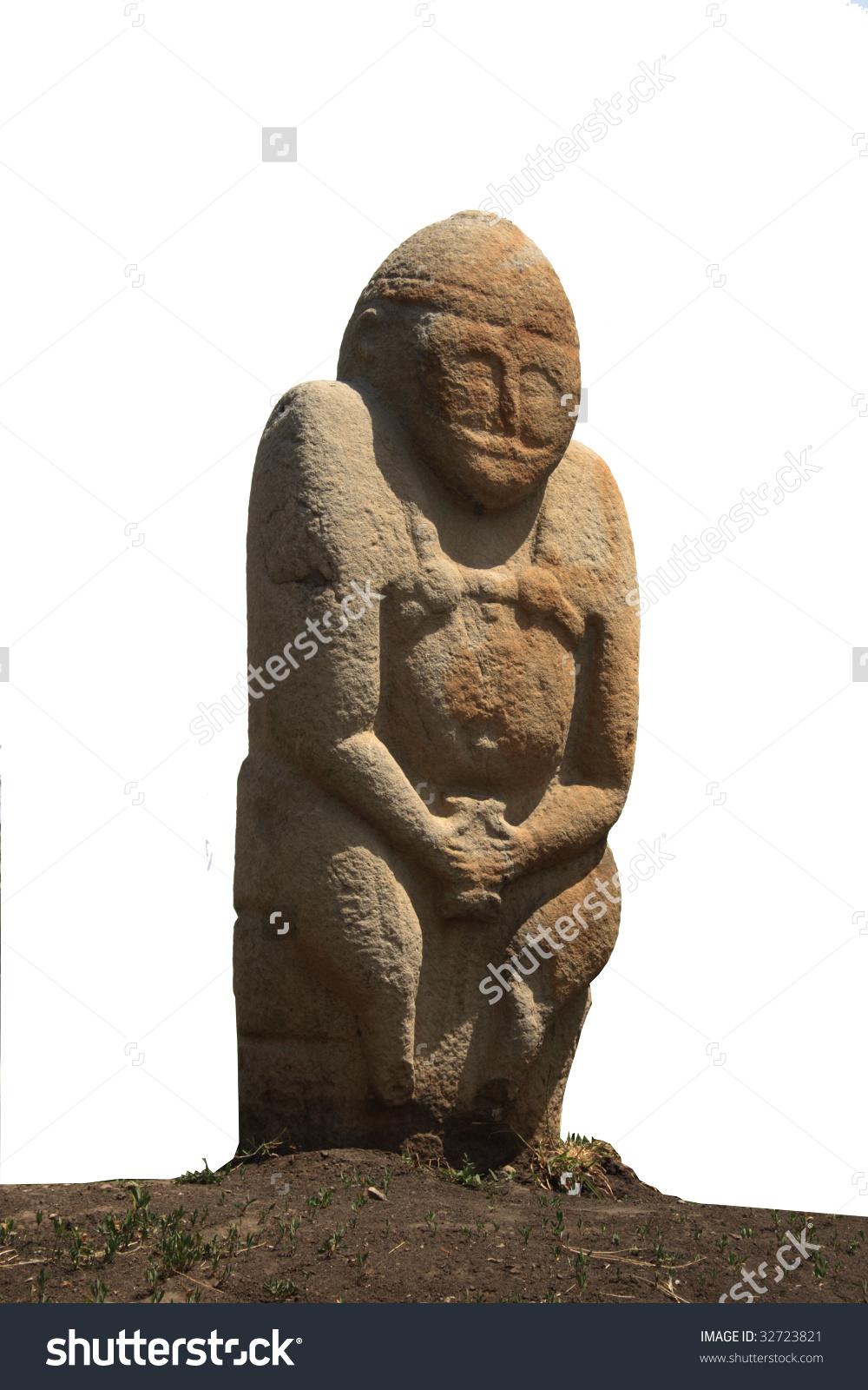 Kurgan Anthropomorphic Stone Stelae From Museum Of Lugansk.