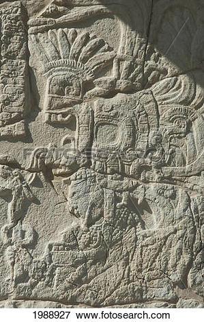 Picture of Stele 3, Bonampak, Chiapas, Mexico 1988927.