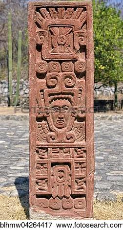 Picture of Stone stele at Museo de Sitio, Ruins of Xochicalco.