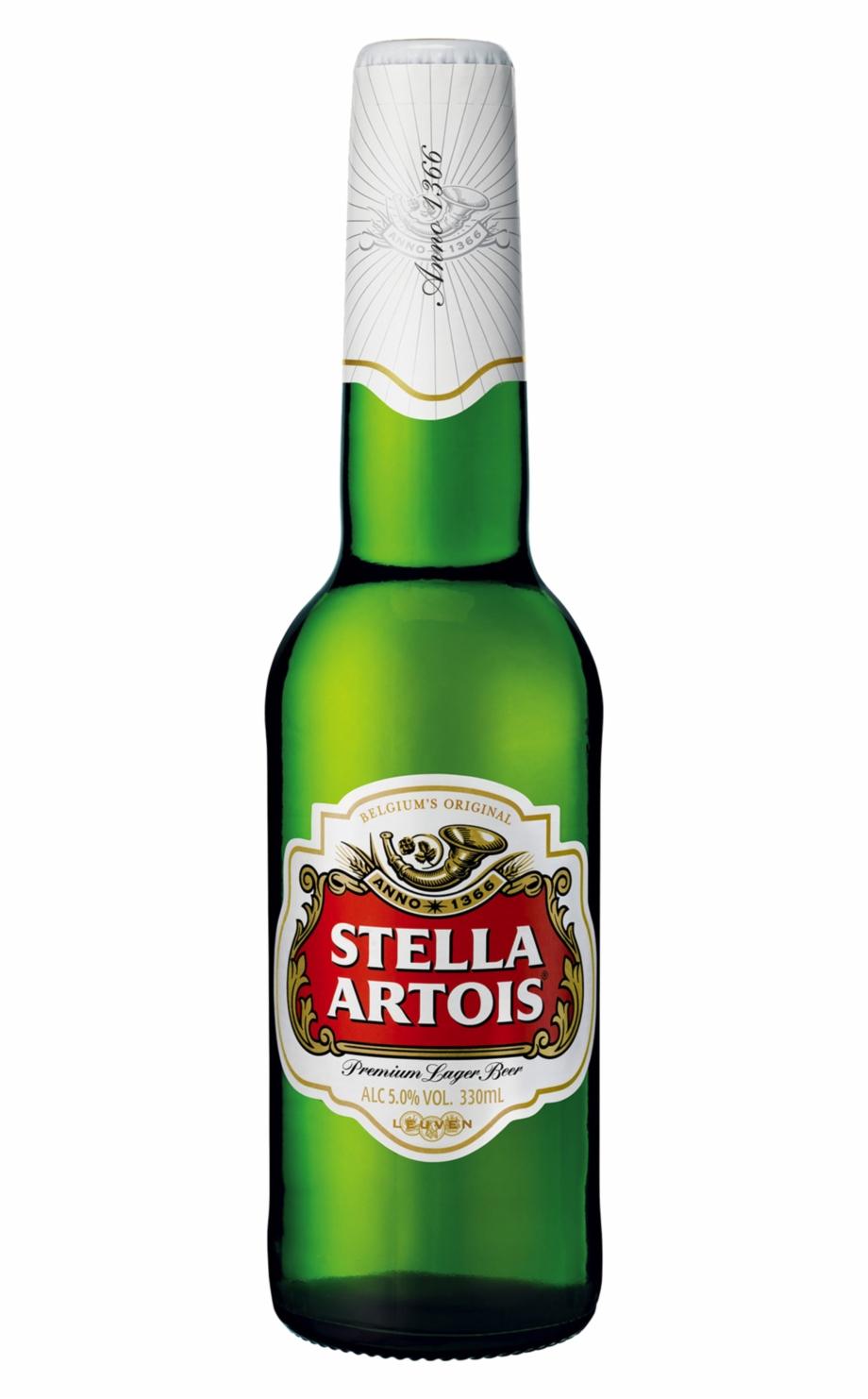 Stella Artois Beer Bottle.