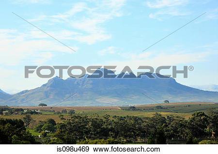 Stock Photograph of Hottentot mountains near stellenbosch, south.