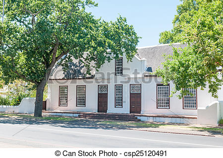 Stock Photographs of Historical building in Stellenbosch in the.