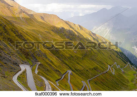 Stock Images of Italy, South Tyrol, Ortler Alps, Passo dello.