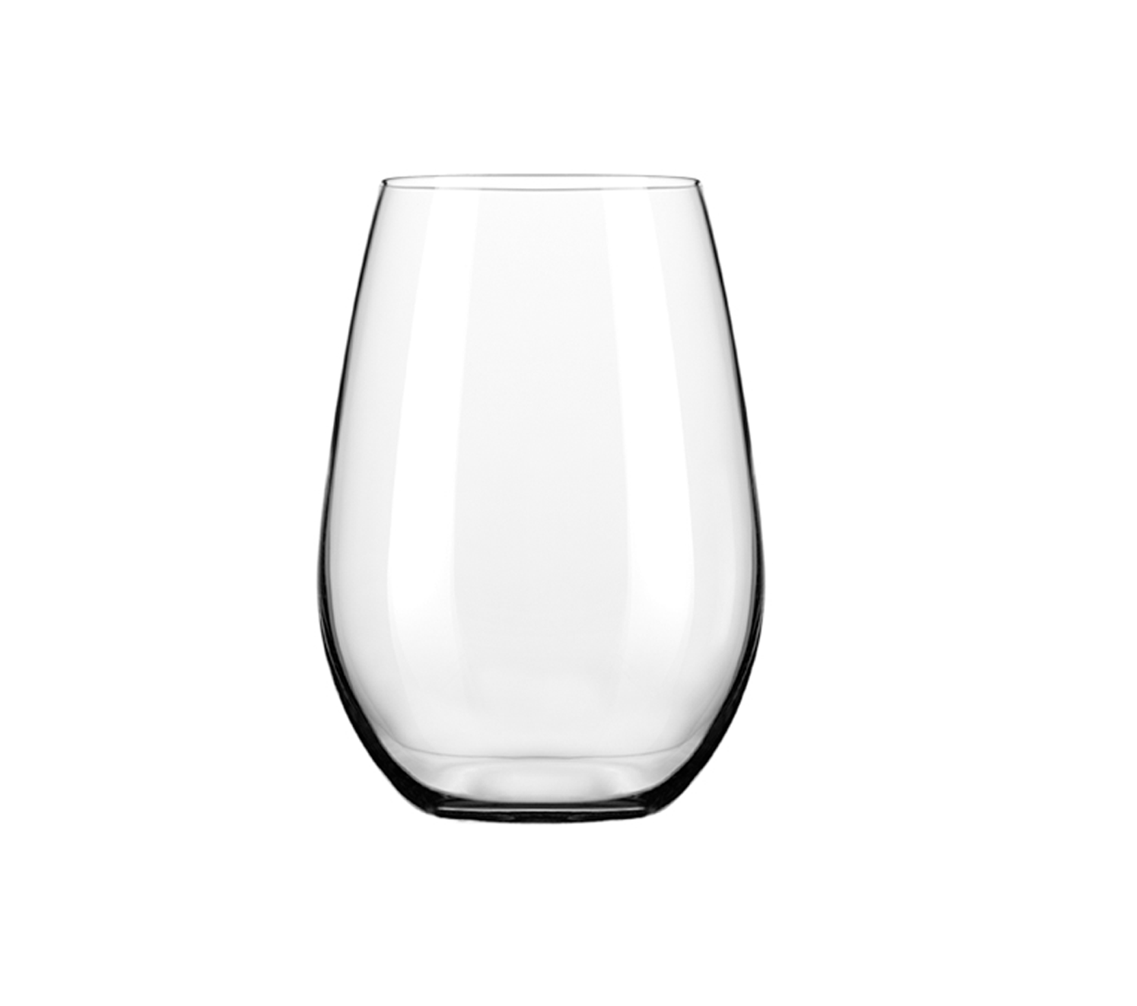 12oz Stemless Wine Glass.