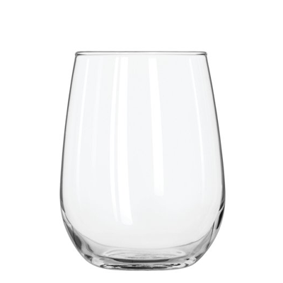 Stemless White Wine Glasses.