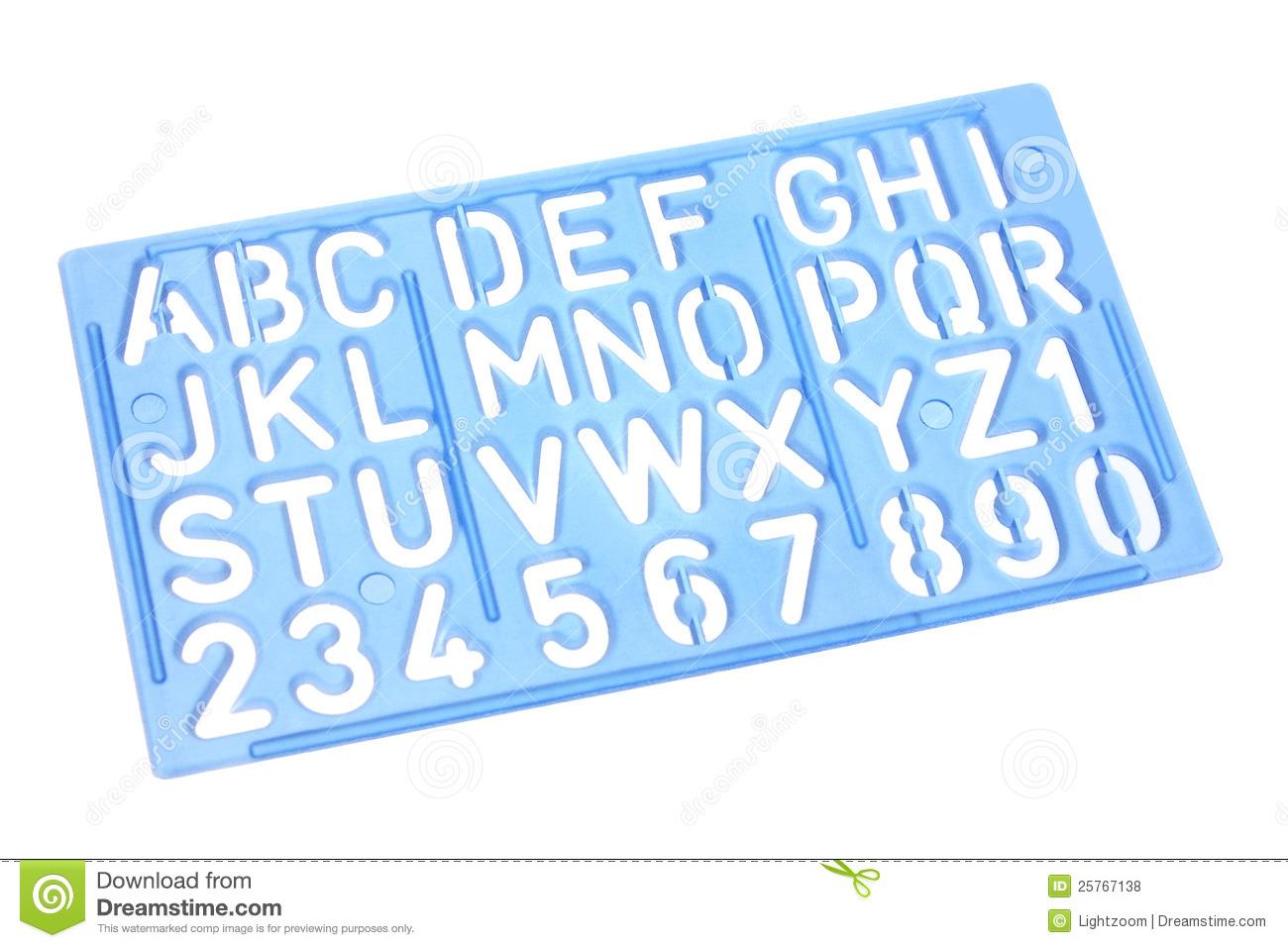 Alphabet stencil clip art.