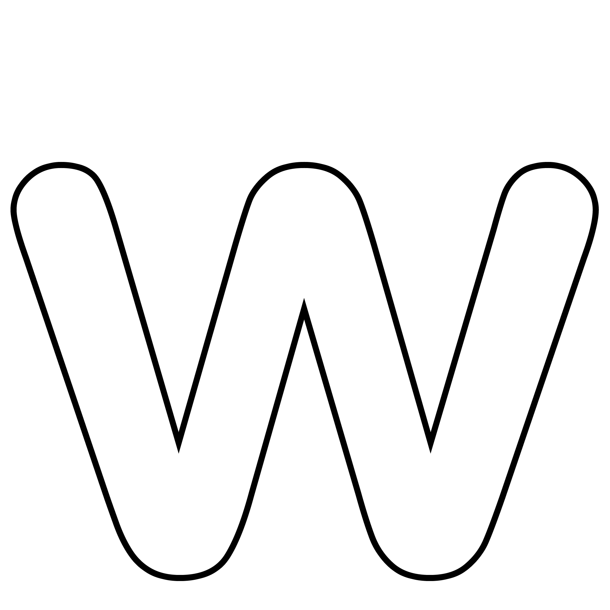 Clipart Letter W Black And White.