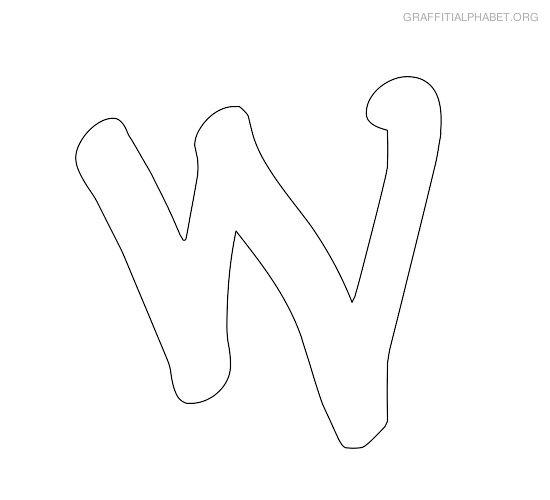 Graffiti Alphabet W Graffiti Letter W Printables.