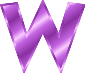 Free Letter W Clipart.
