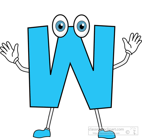 W Letter Clipart.