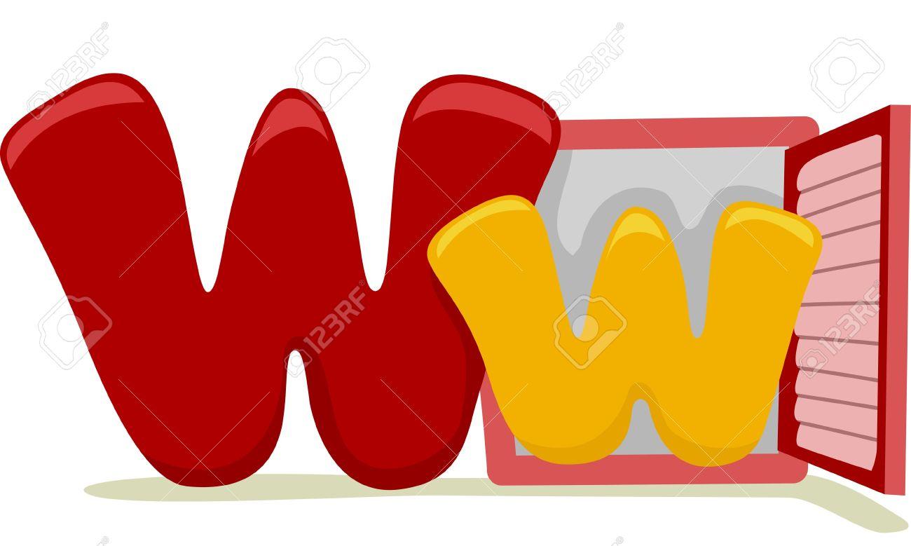 Letter W Clip Art.