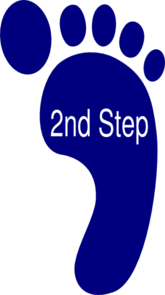 Second Step Clip Art at Clker.com.