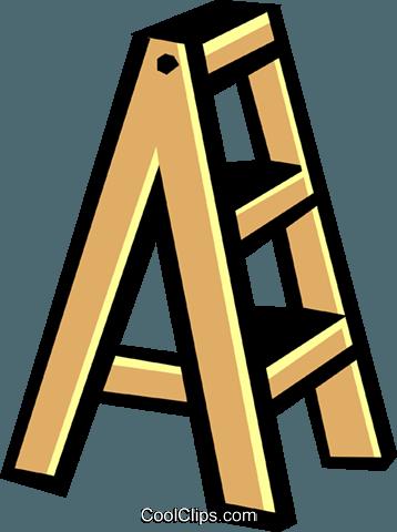 Stepladder Royalty Free Vector Clip Art illustration.