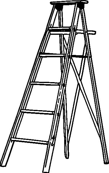 Ladder Black And White Clipart.