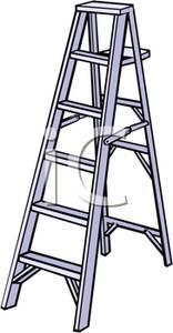 Art Image: A Metal Step Ladder.