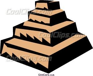 Step pyramids Vector Clip art.