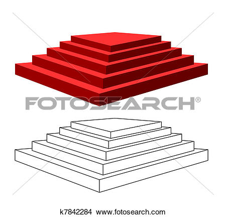 Clipart of Pyramid with steps. k7842284.