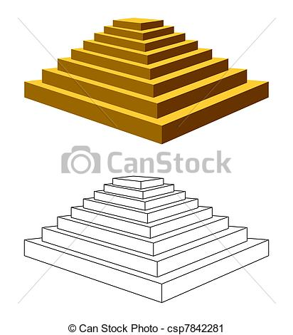 Vector Clip Art of Two pyramids..