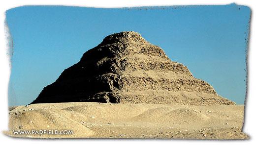 Step Pyramid at Saqqara, Egypt.