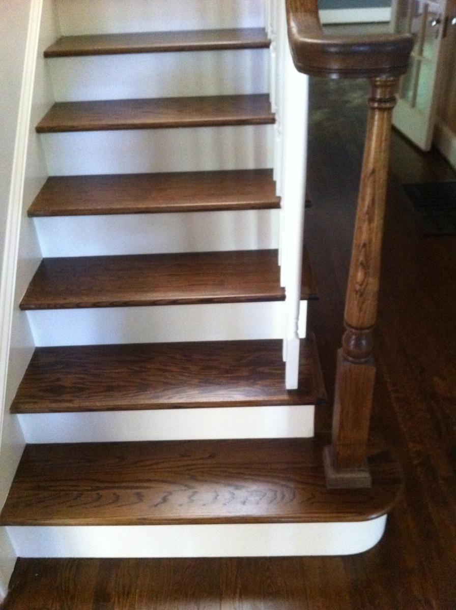 hardwood stair treads.