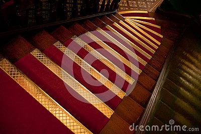 Brass Stair Treads Stock Photo.