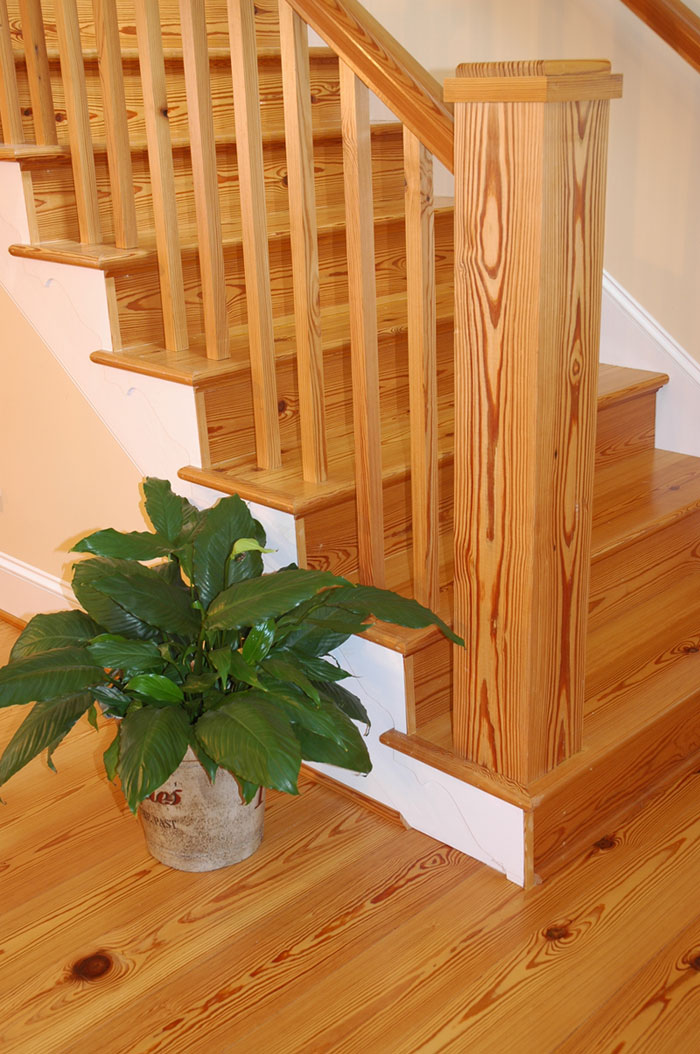 Antique Select Heart Pine Stair Treads and Risers.