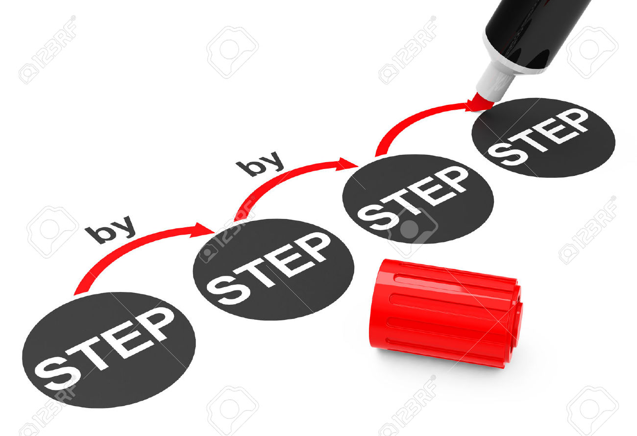 Step by Step Clip Art.