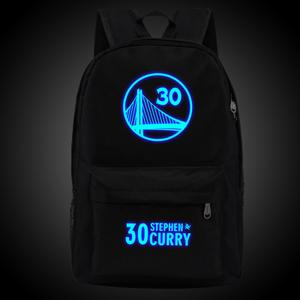 Stephen Curry 30 Backpack School Bag With Logo Glow In The Dark.