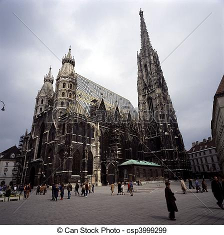 Stock Photographs of Stephansdom, Vienna csp3999299.