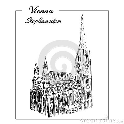 Stephansdom Stock Illustrations.
