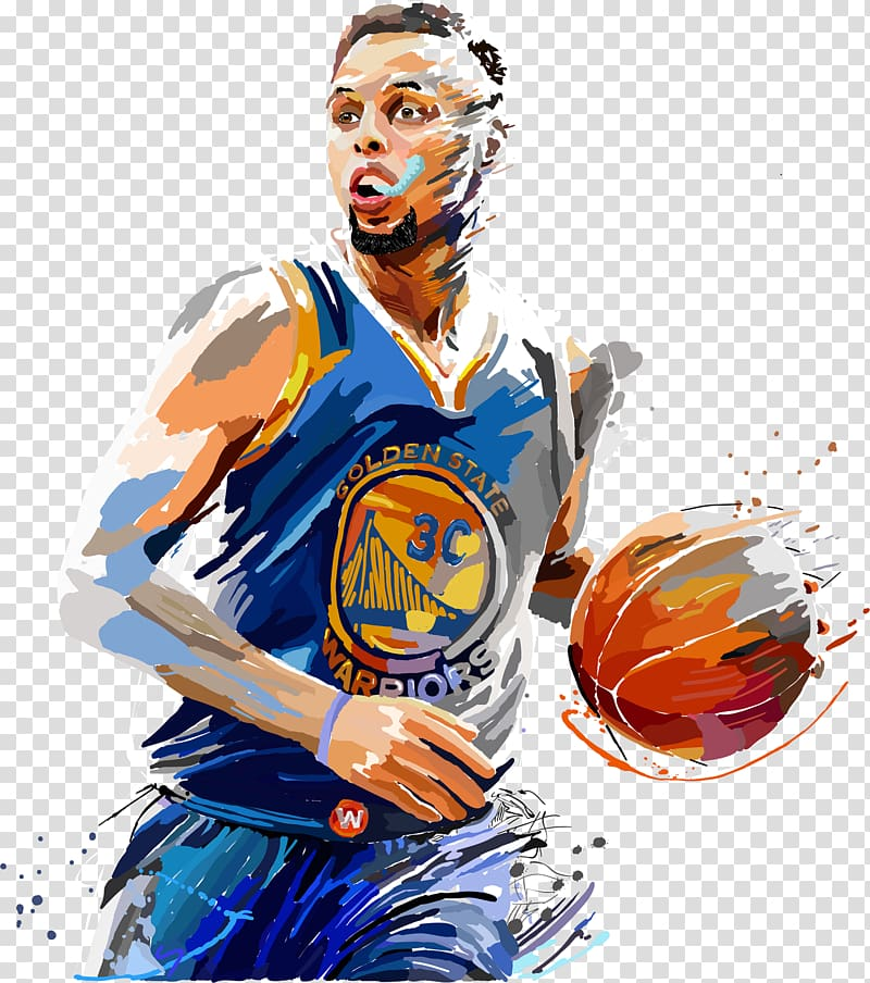 Steffen Curry painting, Stephen Curry Golden State Warriors.
