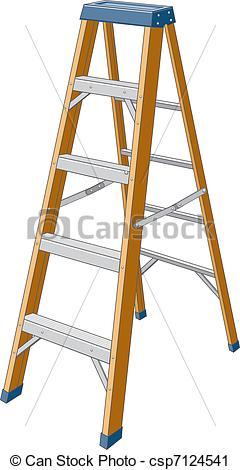 Vector Clip Art of Step Ladder.