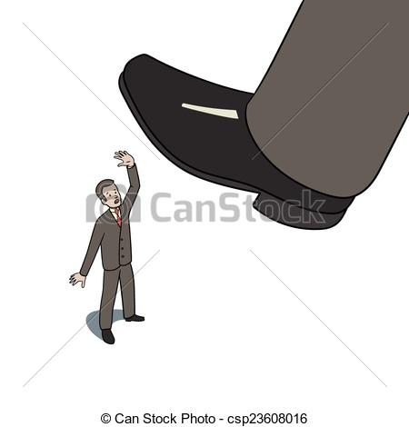 Vector Clip Art of Step on worker.