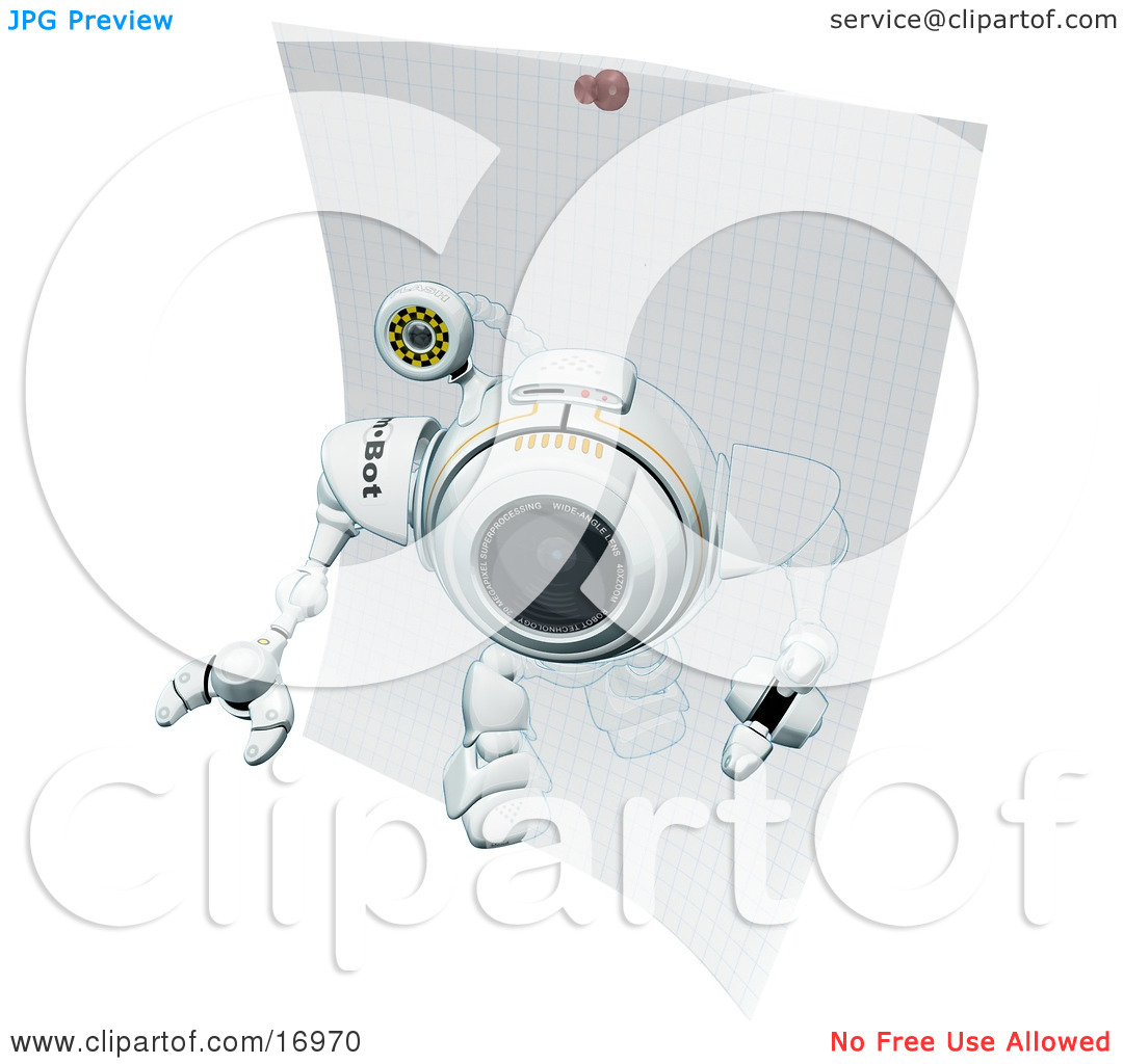 Technology Clipart Illustration Image of a Robotic Webcam Robot.