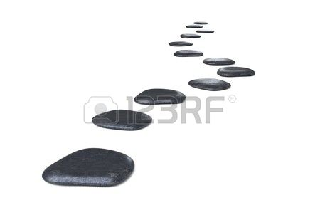 Stepping Stone Clipart.