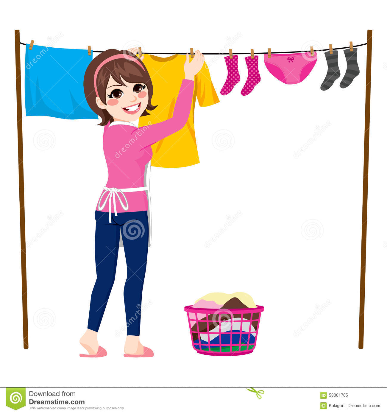 Hang Up Clothes Clipart.