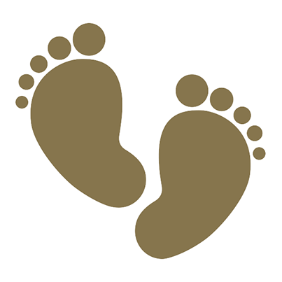 Baby Steps PNG Transparent Image.