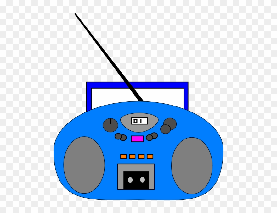 Clipart Of Stereo And Blue Microphone.