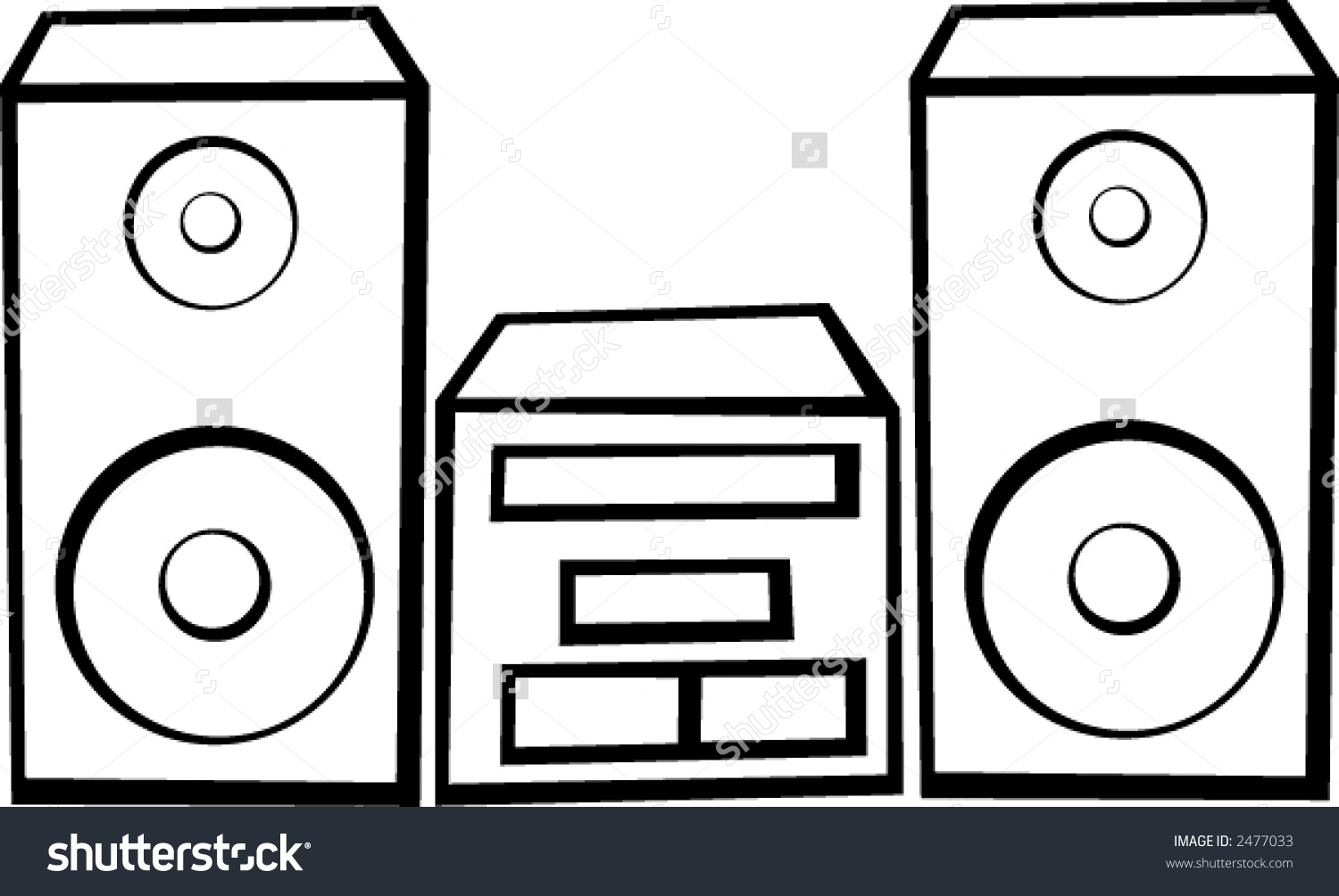 Stereo System Stock Vector 2477033.